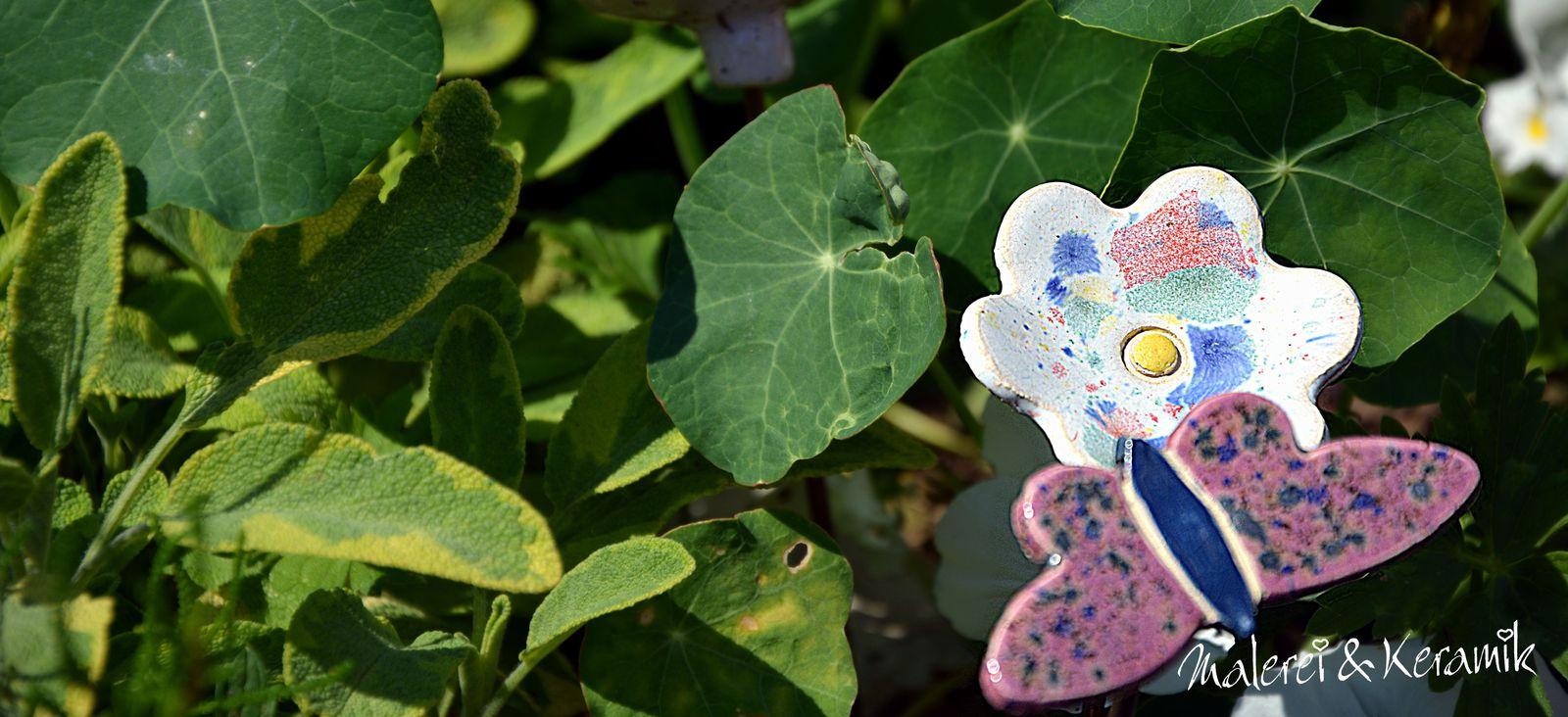 Blumenstecker aus Keramik