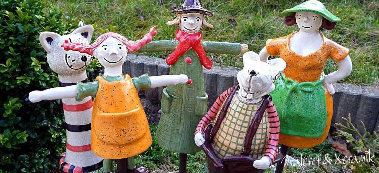 Keramikfiguren von der thüringischen Künstlerin Regina Jeznita.
