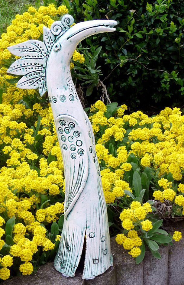 Paradiesvogel aus Keramik