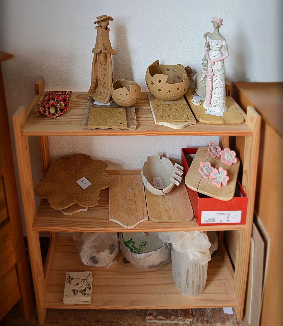 Zwischenlager zum Trocknen der Keramik